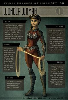 Artist, Lord Ingvard, Re-Designs Women's Superhero Costumes To Be Actually Functional