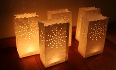 Paper Bag Lantern - Sunburst