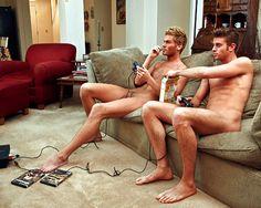 Teen naked Gamer boy