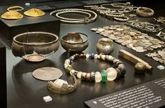 The silver hoards of the Vikings - Nationalmuseet. We can see evidence of the Vikings' activities abroad from the silver hoards. Many of these hoards contain objects that come from faraway places. The hoards consist mainly of silver goods-the real currency of the Viking Age. Goods were paid for in silver by weight.  A few hoards may be votive offerings. Most of the finds seem to be stocks of valuables that were hidden during times of trouble.