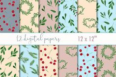 Winter digital paper by MyLittleMeow on @creativemarket