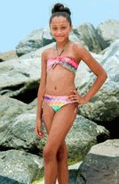To the 9's Chevron 2pc Bandeau Bikini Swimsuit Tween
