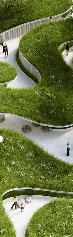 Penda (Chris Precht) Where The River Runs / Garden Expo 2015 Villa Architecture, Landscape Architecture Design, Green Architecture, Landscape Architects, Architecture Definition, Urban Park, Parcs, Urban Planning, Urban Landscape