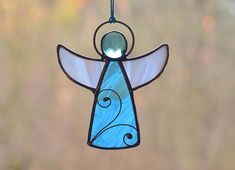 Stained glass angel angel gift Tiffany glass angel angel