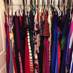My favorite outfit is definitely a DRESS! Displayed here by the dress side of my closet!  #day23 #outfit #emstagram #dresscloset #myfavoritecollection