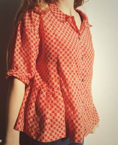Blouse from Japanese pattern book, Simple Chic.