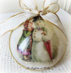 Palla di Natale: pupazzo di neve