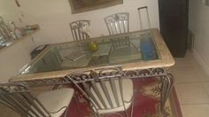 Dining table with 4 chairs and cornet table in Kissimmee, FL (sells for $220)