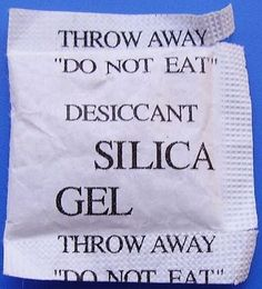 The next time you get a new pair of shoes or another product with a packet of silica gel inside, save the packet and stash it in your toolbox. Silica gel is a desiccant, which absorbs moisture and draws it away from your tools, preventing rust.