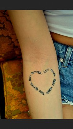 such a great saying in a simple tattoo