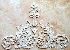 Raised Plaster Dresden Stencil Craft by VictoriaLarsenDecor