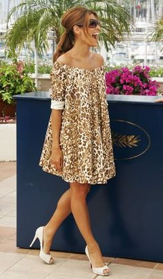 Puffy print dress. Love the style hate the design