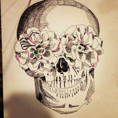 Skull tattoo design. #tattoo #tattoos #ink - http://wanelo.com/p/3624752/8350-tattoo-designs-tattoo-ideas-world-s-1-body-art-gallery