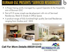Burman GSC Presents Serviced Residences ,fully furnished 1 BHK  by Mnc Propmart via slideshare