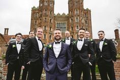 Grooms party at Layer Marney Essex Wedding by Anesta Broad Photography