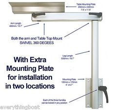 Lagun marine boat #motorhome rv swivel #adjustable #cockpit table pedestal-2 moun,  View more on the LINK: 	http://www.zeppy.io/product/gb/2/281932883873/