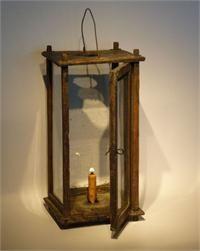 Prim lighting. wood lantern