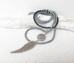 Ketten lang - lange Kette - angel wing - - ein Designerstück von moanda bei DaWanda
