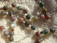 Agate Beads  necklace Jasper beads necklace by UniquelyArdath, $32.00