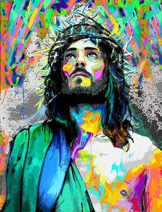 Images Du Christ, Pictures Of Jesus Christ, Catholic Art, Religious Art, Croix Christ, Jesus Christ Painting, Jesus Drawings, Jesus Wallpaper, Christian Artwork