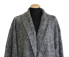 Mohair (35% wool) cardigan that can be worn either by a woman or a man.