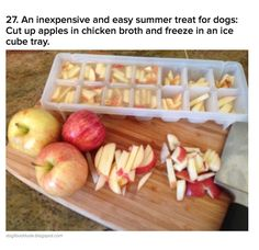 Summer apple treats! You can also use water instead of broth.