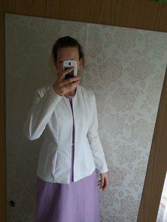 White bomull jacket