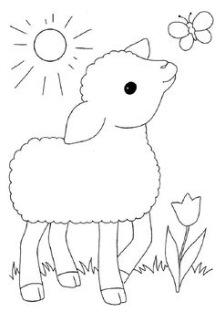 Exceptional Spring crafts Half Coloring pages Farm Animal Coloring Pages, Spring Coloring Pages, Coloring Book Pages, Coloring For Kids, Hand Embroidery, Machine Embroidery, Farm Quilt, Book Projects, Applique Quilts