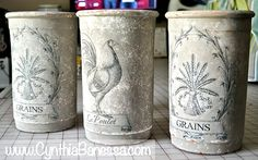 DIY French Clay Pots - Reader Featured Project - The Graphics Fairy