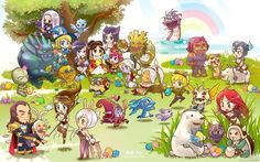 League of Legends Chibi Champions HD Wallpaper Image Lol League Of Legends, Anivia League Of Legends, League Of Legends Fondos, Chibi Wallpaper, Mobile Legend Wallpaper, Wallpaper Backgrounds, View Wallpaper, Wallpapers, Ahri League