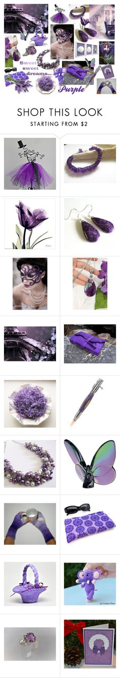 """""""Sweet Purple Dreams"""" by riagr ❤ liked on Polyvore featuring Baccarat, integrityTT, EtsySpecialT, crazy4etsy, etsyfru and etsyevolution"""