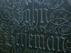 Simon Verity's gravestone for John Betjeman. Typography, Lettering, Door Handles, Arts And Crafts, Home Decor, Letterpress, Door Knobs, Decoration Home, Letterpress Printing