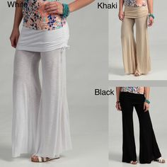@Overstock - Add flair to your look with these wide leg pants. The rayon pants feature a wide foldover waistband.http://www.overstock.com/Clothing-Shoes/Elan-Womens-Rollover-Waistband-Flair-Bottom-Pants/6674697/product.html?CID=214117 $41.49