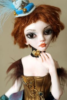 "Steampunk art doll, elenaOriginals .. I just heard the term ""Steampunk"" yesterday.  Widespread following."