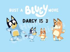 Bluey party, Bluey backdrop, Bluey party supplies, Bust a Bluey move banner Abc Birthday Parties, Birthday Freebies, Dog Birthday, Birthday Ideas, Bingo Party, Abc Party, Toy Story Party, Abc For Kids, Birthday Backdrop