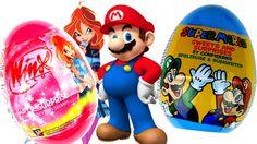 Kinder Surprise Eggs  Super Mario Киндер Сюрпризы Winx club Kinder Sorpresa