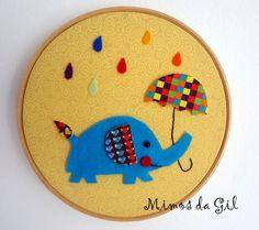 Quadro Bastidor Elefante R$20.00