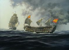 Old Sailing Ships, Sailing Boat, Pirate Art, Ship Of The Line, Ship Paintings, Man Of War, Naval History, Military Diorama, Nautical Art