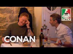 Conan Visits Jordan's Favorite Restaurant  - CONAN on TBS Conan O Brien, Video Library, Restaurant, Tbs, It's Funny, Coven, Are You Happy, Musicals, Vegan Recipes