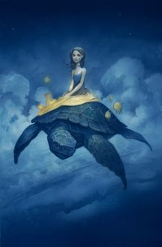 I literally dreamed about floating on a sea turtle once so it's fitting that I pin this.