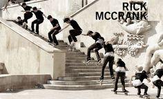 Rick McCrank - 50-50 Backside 180 Skateboard Sequence.