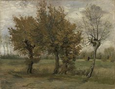 Autumn Landscape by Vincent van Gogh, oil on canvas, November, 1885 Vincent Van Gogh, Van Gogh Museum, Impressionist Artists, Yellow Leaves, Art Reproductions, Impressionism, Painting & Drawing, Oil On Canvas, Giclee Print