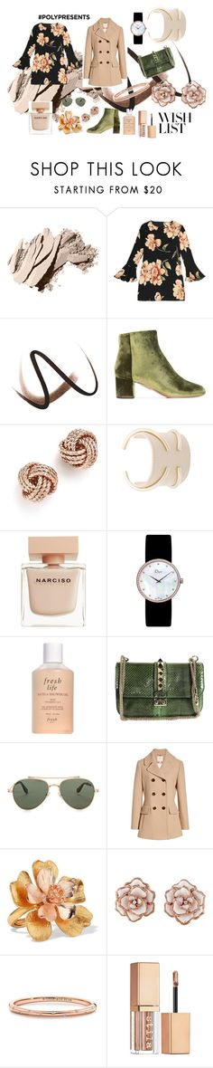 """""""#PolyPresents: Wish List"""" by chicalessia ❤ liked on Polyvore featuring Bobbi Brown Cosmetics, Burberry, Aquazzura, Bloomingdale's, Jil Sander, Narciso Rodriguez, Christian Dior, Fresh, Valentino and Givenchy"""