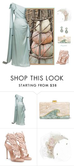 """""""Pumpkins of Another Color"""" by ragnh-mjos ❤ liked on Polyvore featuring Yves Saint Laurent, Edie Parker and LULUS"""