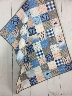 Baby Boy Quilt Patterns, Baby Girl Quilts, Girls Quilts, Quilting Projects, Sewing Projects, Aztec Blanket, Baby Art, Easy Quilts, Iceland
