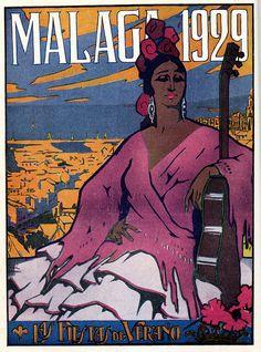 Malaga, Spain.   Cartel de feria.