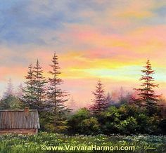 The End Of Day by Varvara Harmon - The End Of Day Painting - The End Of Day Fine Art Prints and Posters for Sale