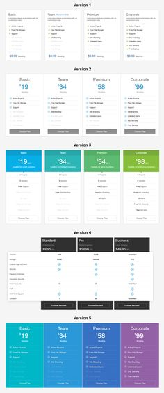 CSS3 Responsive Pricing Tables