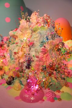 """We miss you Magic land!"" By artist duo Pip & Pop (Tanya Schultz and Nicole Andrijevic) Candy Art, Aesthetic Pastel Wallpaper, Taste The Rainbow, Aesthetic Art, Wall Collage, Installation Art, Artsy Fartsy, Les Oeuvres, Art Inspo"
