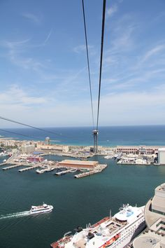 view from cable car, Barcelona, 2012.  Hope they still have this. Surely gonna try when being there